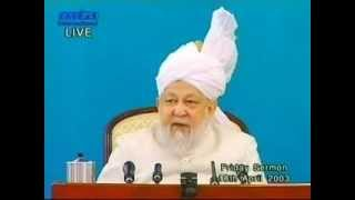 Friday Sermon 18 April 2003.