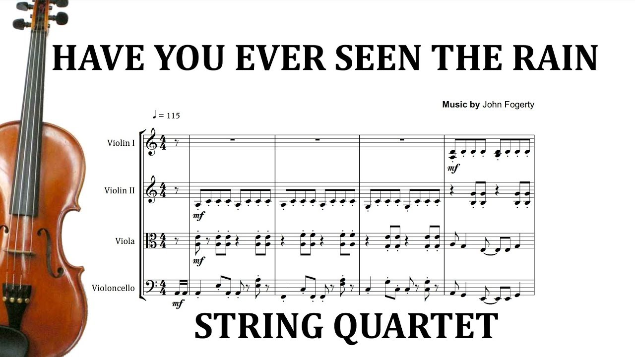 Revival have you ever seen the rain? Sheet music (easy) for.