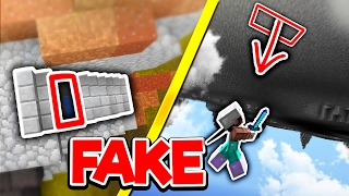 FAKE Staircase TRAP (Minecraft Skywars Trolling)