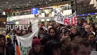 Germany  Activists march against deportation of Afghan refugees at Frankfurt airport