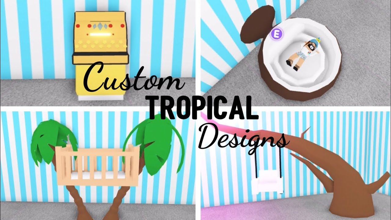 8 Custom TROPICAL Design Ideas & Building Hacks (Roblox ...