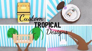 8 Custom TROPICAL Design Ideas & Building Hacks (Roblox Adopt me)   Its SugarCoffee
