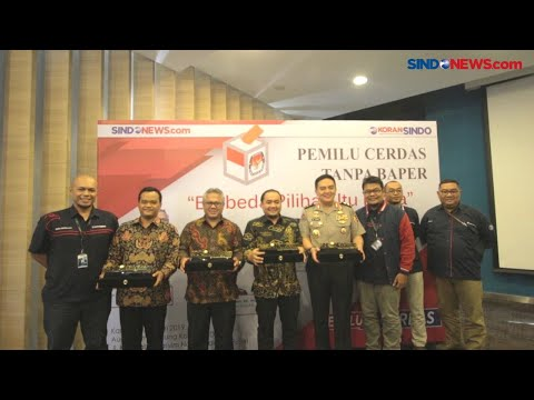 Ketua KPU Arief Budiman Hadiri Peluncuran Kanal Pemilu Cerdas SINDOnews.com