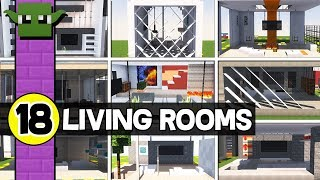 18 Things in Minecraft  - MODERN LIVING ROOMS