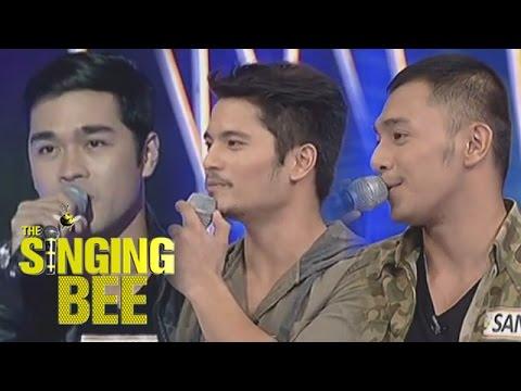 Indie actors Jess, Sandino, and Jun Jun competes on Singing Bee