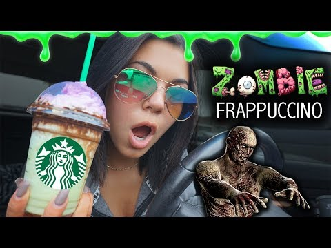 TRYING THE NEW ZOMBIE FRAPPE FROM STARBUCKS! + Drive with me!