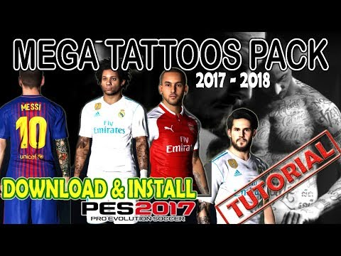 [PES 2017] TATTOS PACK 2017 - 2018 Download & Install [Tutorial] Mp3
