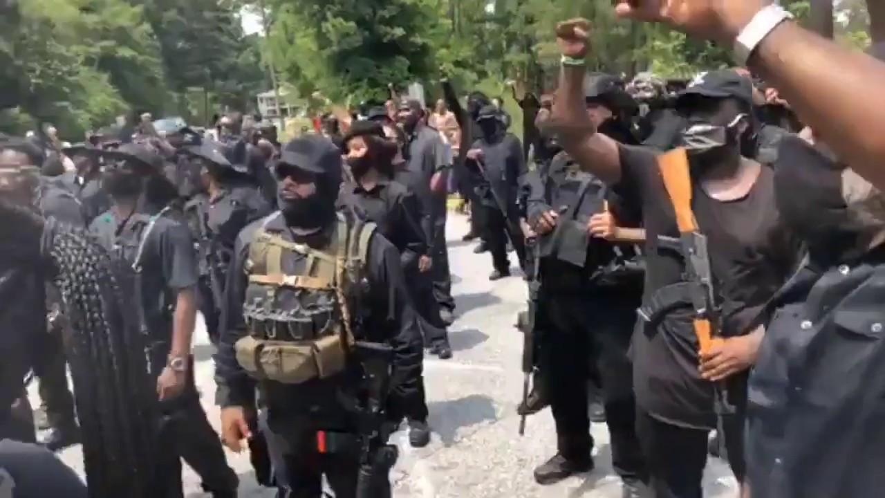Black Militia at Stone Mountain July 2020... No Mo Talk...