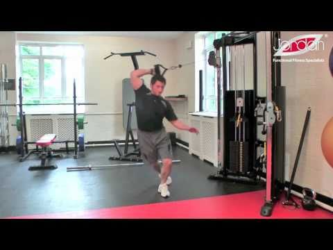 Jordan Cable Training - Reverse Crossover Lunge & Overhead Reach