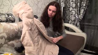 видео женский пуховик