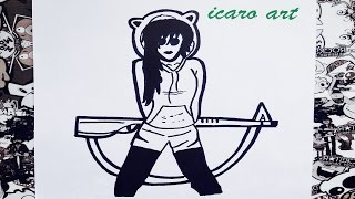 Como dibujar a jane the killer   how to draw jane the killer   creepypasta