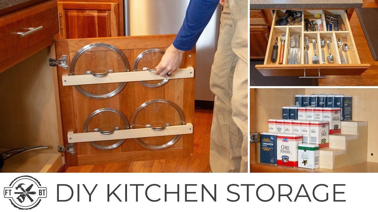 3 Easy Diy Kitchen Organization Projects Basic Tools Youtube