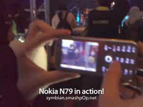 Nokia N79 in action