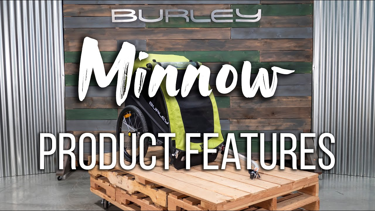 Minnow Single Seat Kids Bike Trailer - Burley Design