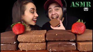ASMR KLONDIKE ICE CREAM BARS WITH MY GIRLFRIEND (No Talking) EATING SOUNDS | Jordan Sloth Eats