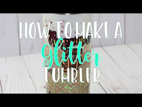 How to Make an Ombre Glitter Tumbler