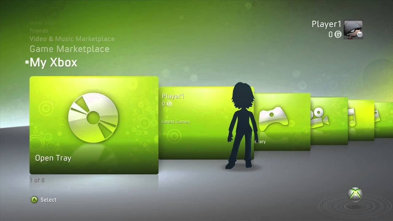 Image result for xbox 360 dashboard 1280 x 720