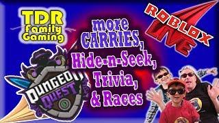 DQ Live: more Carries, Hide-n-Seek, Trivia & Races! - Roblox Live Stream