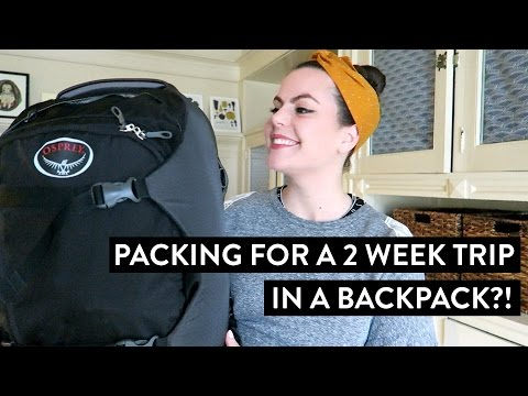 Packing for a 2 Week Trip in a Backpack?! | Going to Europe During Winter