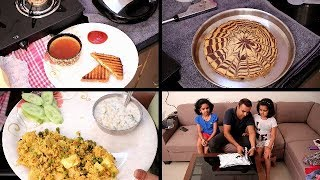 Indian Lunch to Dinner Routine | Orange Tea/Zebra Cake/Matar Paneer Pulao | Indian Moms Routine