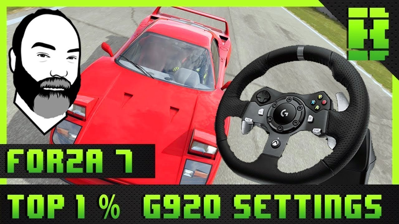 Forza 7 Steering Wheel Setup Logitech G920 Gameplay Youtube