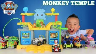 Paw Patrol MONKEY TEMPLE  Jungle Rescue Playset Unboxing Fun With Ckn Toys thumbnail