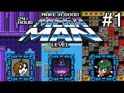 Let's Play Make a Good 24 Hour Mega Man Level - #1: Breaking Polluted Greenhouse