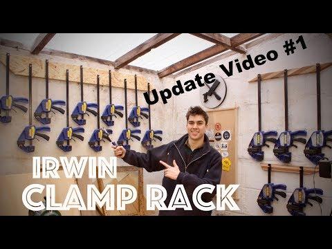 New Clamp Rack! Update Video #1 - SE Woodwork