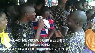 BABA ARA 2 OLATUNDE OLOMOLA LIVE ON STAGE@AKINTUNDE AMSTRONG GRANDMA'S BURIAL PARTY RECENTLY