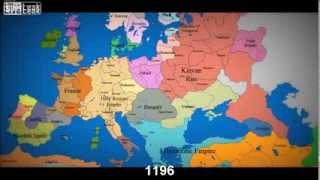Mapa Európy za posledných 1000 rokov nl. v časovej osi