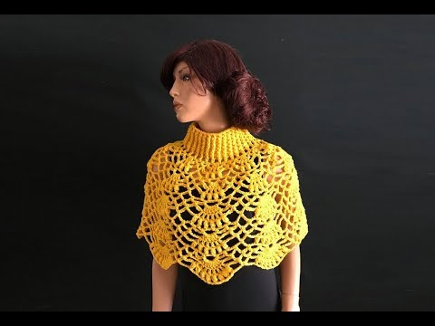 How To Crochet A Capelet Pattern 746by Thepatternfamily Youtube