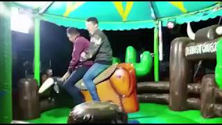 VERY FUNNY!!! Two men and one bull [LAUGH]