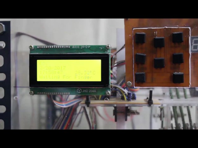 Homemade Microcontroller based elevator with fingerprint security and power failure protection