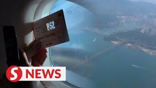 Hong Kong travellers on board short 'flight to nowhere'
