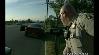 COPS TV Show, Traffic Stop Accident, Riverside County Sheriff