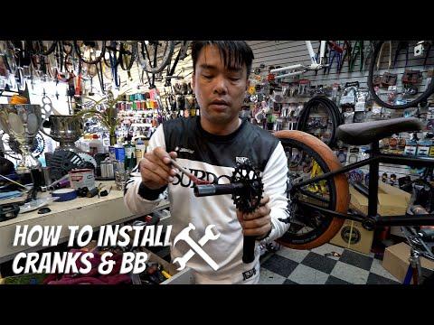 How To Install Cranks & Bottom Brackets - BMX