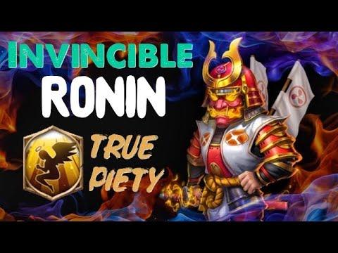 Invincible Ronin • True Piety • Castle Clash