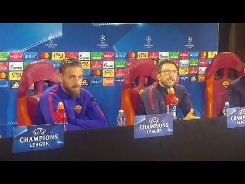 Shakhtar Roma - Conferenza Stampa Di Francesco e De Rossi