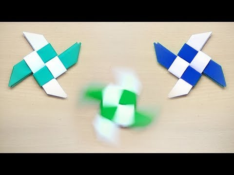 Paper Fidget Spinner | How To Make A Paper Fidget Spinner WITHOUT BEARINGS | Ninja Star