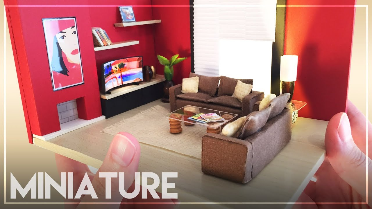 diy miniature living room | not a kit! 100% diy