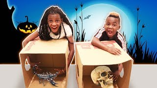 What's In The BOX Challenge!!! - HALLOWEEN Edition