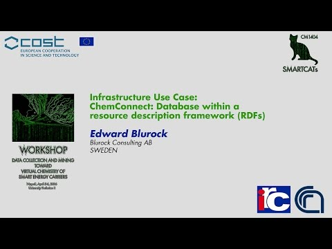 Infrastructure Use Case: ChemConnect: Database within a resource description framework (RDFs)