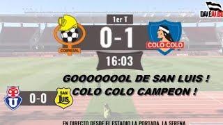 Relator de Colo Colo grita Gol de San Luis que no fue (Radio DaleAlbo)