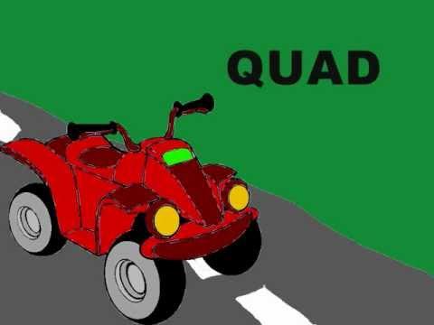 Dessin animé quad