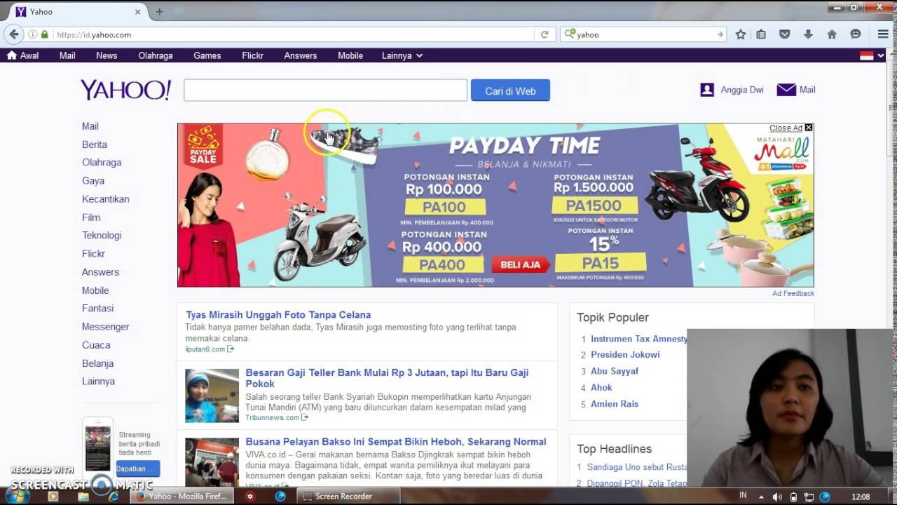 Cara Kirim Email Melalui Yahoo Youtube