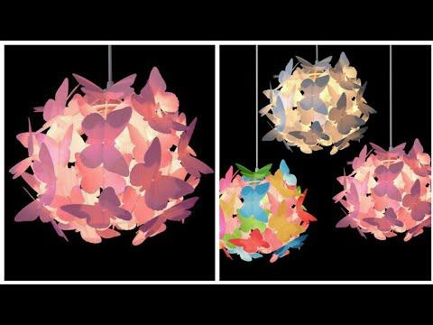 DIY butterfly lamp - DIY Home Decoration Ideas   