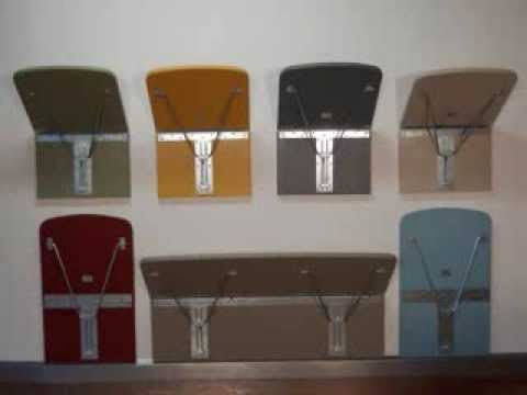 Eureka Mfg Wall Mounted Chair - YouTube
