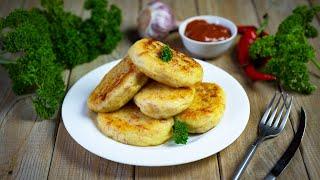 Картофельные котлеты с сыром и колбасой видео рецепт Вкусные котлеты из картошки пюре