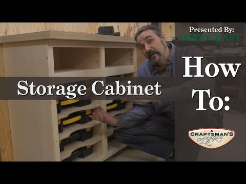 Woodcraft 101 | Woodshop Build: Episode 2 - Cabinet build for storage case & organizers