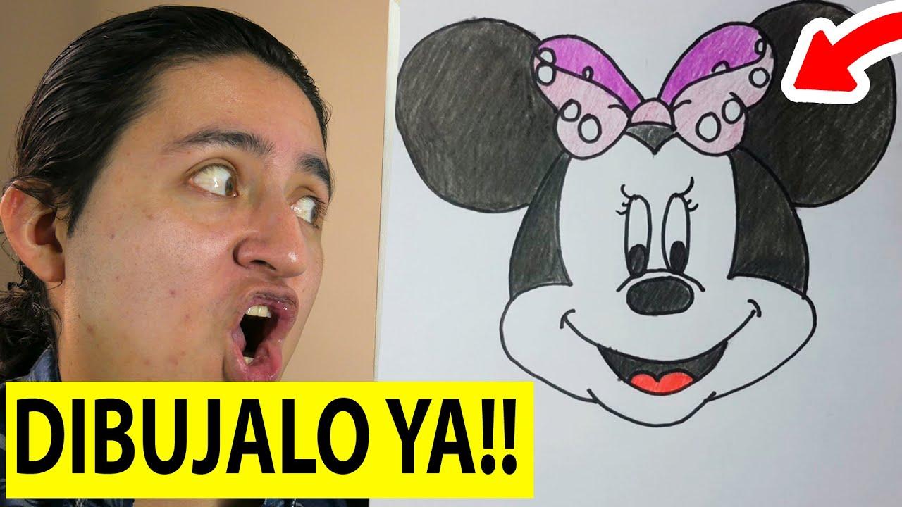Como Dibujar a Minnie Mouse paso a paso El Dibujante  YouTube